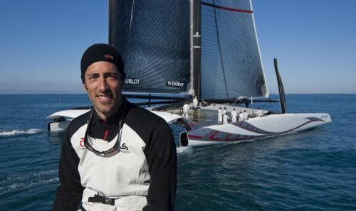 Alinghi 5 sailing in ValenciaStefano Beltrando